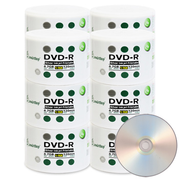 Smart Buy DVD-R 16X 4.7 GB - Silver Inkjet Hub Printable 600 PCS